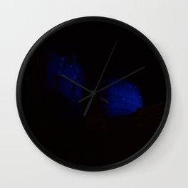 Edinburgh Castle in Blue 1 Wall Clock