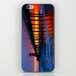 Sunset Huntington Beach Pier  iPhone Skin