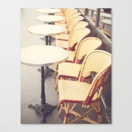Paris Cafe, Classic Parisian coffee chairs Canvas Print