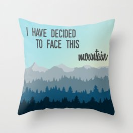 Face This Mountain (Jon Foreman Lyrics Illustration) Throw Pillow