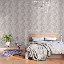 Softest blush pink marble Wallpaper