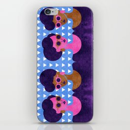 Girls in Purple and Sunglasses iPhone Skin