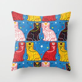 staffordshire dogs Throw Pillow