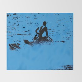 Blue Waters - Jet Ski Fun Throw Blanket