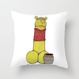 Weenie-The-Pooh-Dick Throw Pillow