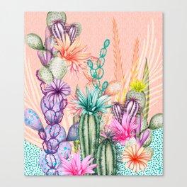 Cacti Love Canvas Print