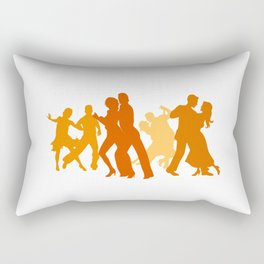 Tango Dancers Illustration  Rectangular Pillow