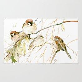 Sparrows on Tree Rug