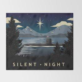 Silent Night - Submarine Christmas Throw Blanket