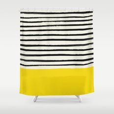 Sunshine x Stripes Shower Curtain