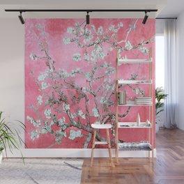 Van Gogh Almond Blossoms : Pink & Aqua Wall Mural