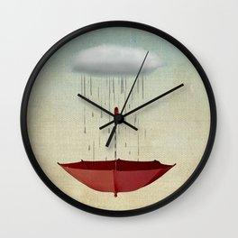 embracing chance Wall Clock