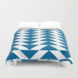 Blue Triangle Duvet Cover