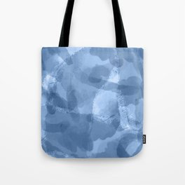 Ink Blue Watercolor Abstract Painting Tote Bag