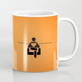 Sunscreen / Read the directions Coffee Mug