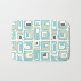 Retro Rectangles Mid Century Modern Geometric Vintage Style Bath Mat