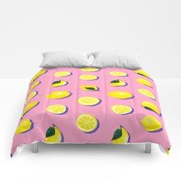 Pink Lemon ~ 80's Pattern Comforters