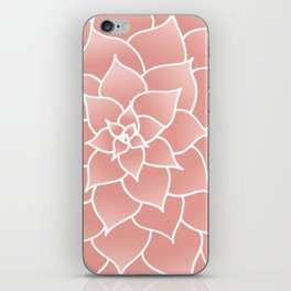 Abstract Modern Pink Rose Flower iPhone Skin