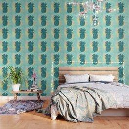 Tropical Pineapple Wallpaper
