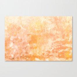Marbling structur in warm orange tones Canvas Print