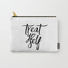 Wall Decor Watercolor Dorm Wall Art Parks and Recreation Print Treat Yo Self Print Funny Quote Print Carry-All Pouch