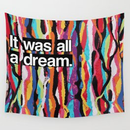 """""""It Was All A Dream"""" Biggie Smalls Inspired Hip Hop Design Wall Tapestry"""