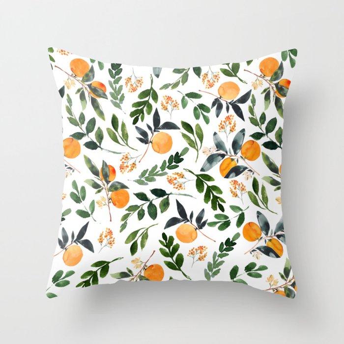 Orange Grove Throw Pillow