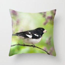 Spring Songbird Throw Pillow