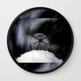Daybreak Light on Snowy Day Wall Clock