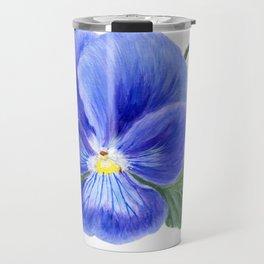 Purple Pansy by Teresa Thompson Travel Mug