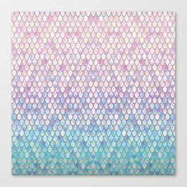 Spring Mermaid Scales Canvas Print