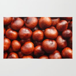 Red conkers Rug