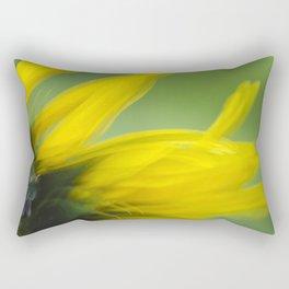 Sunflower Abstract Rectangular Pillow