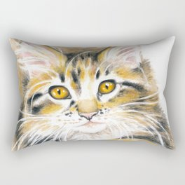 Maine Coon Kitty Rectangular Pillow