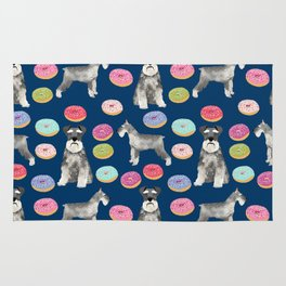 Schnauzer dog breed donuts doughnut pet art schnauzers pure breed gifts Rug