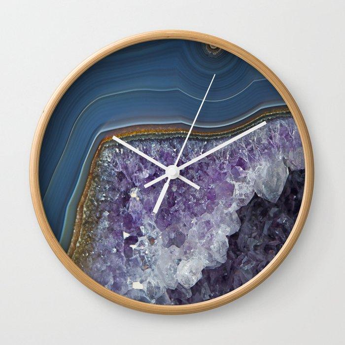 Amethyst Geode Agate Wall Clock