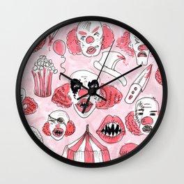 halloween clown pattern Wall Clock
