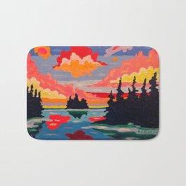 Northern Sunset Surreal Bath Mat
