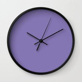 Dark Lavender / gray grape Wall Clock