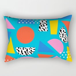 Airhead - memphis retro throwback minimal geometric colorful pattern 80s style 1980's Rectangular Pillow