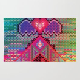 pyramid heart Rug