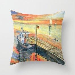 A Delightful Evening Throw Pillow