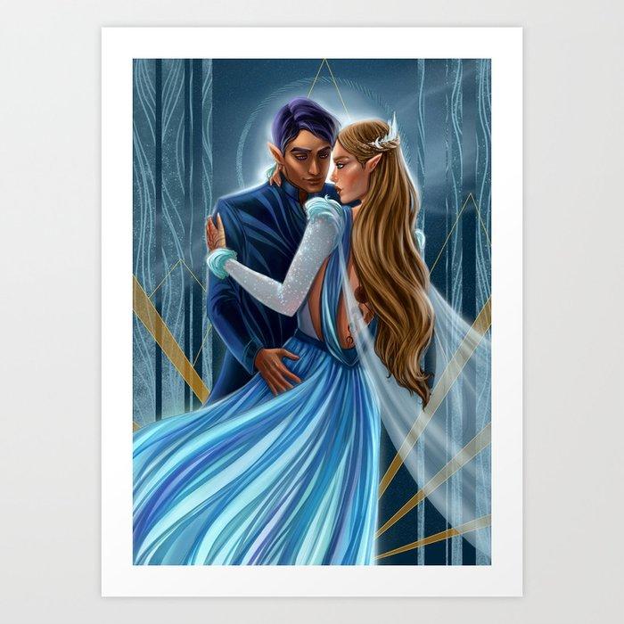 Starlight Feyre and Rhys Art Print