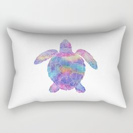 Watercolor Sea Turtle Rectangular Pillow