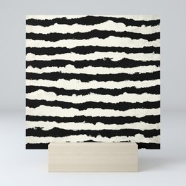 Tribal Stripes Black on Cream Mini Art Print
