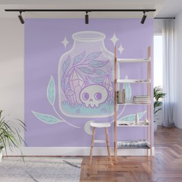 Pastel Terrarium Wall Mural