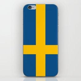 flag of sweden iPhone Skin