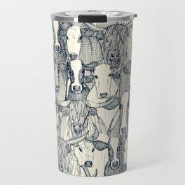 just cattle indigo pearl Travel Mug