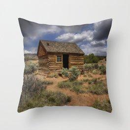 Morrell Line Cabin- Capitol Reef National Park, Utah Throw Pillow