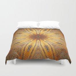 Bright Antique Gold Mandala Duvet Cover